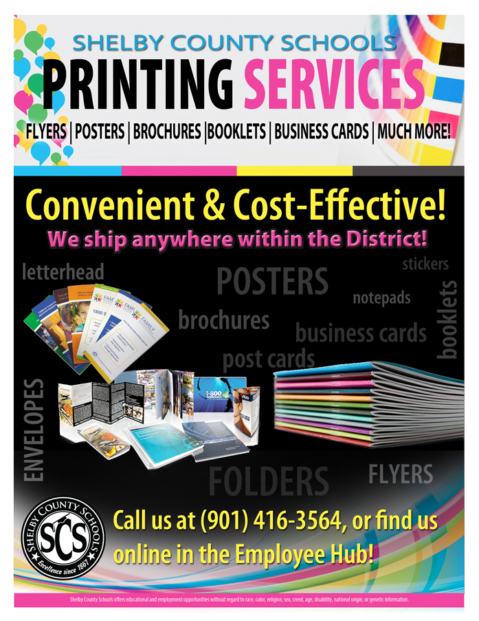 Shelby county schools we are a full service print shop with the latest digital equipment and we can help with all of your printing needs flyers posters reheart Choice Image