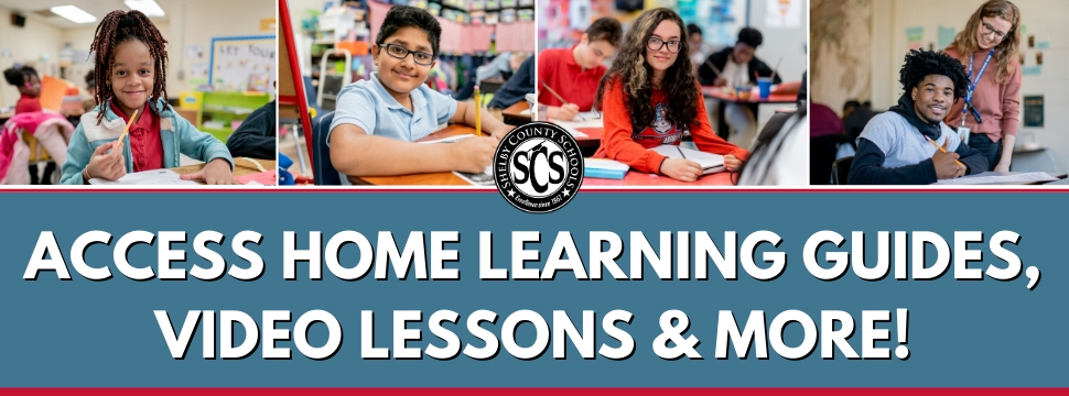 Access Home Learning Guides, Video Lessons & More! banner