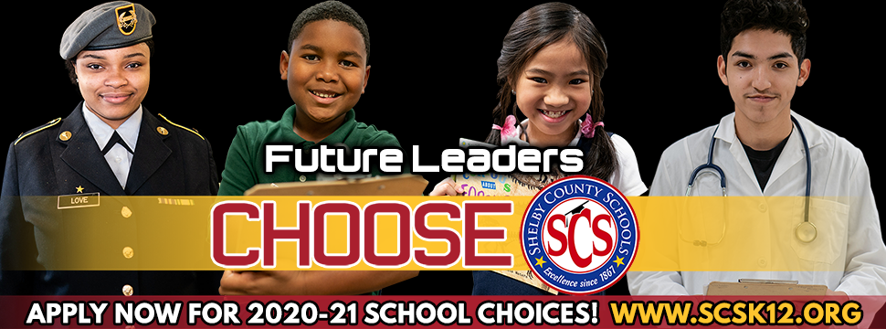 School Choice Apply Now For 2020-21 Schoool Choices! www.scsk12.org banner