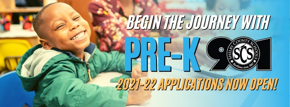 2021-22 Pre-K Applications Now Open banner