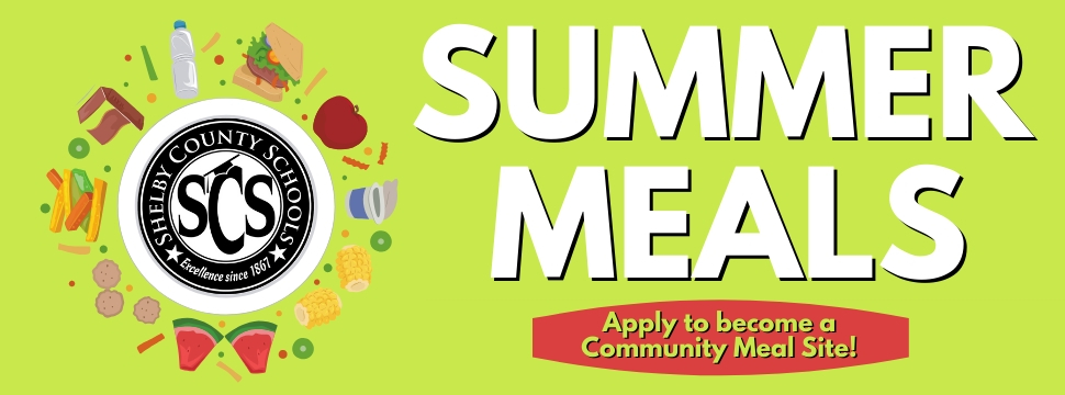 Summer Meals Apply to become a Community Meal Site! banner